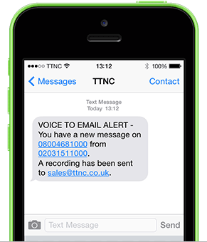 Voicemail SMS alert